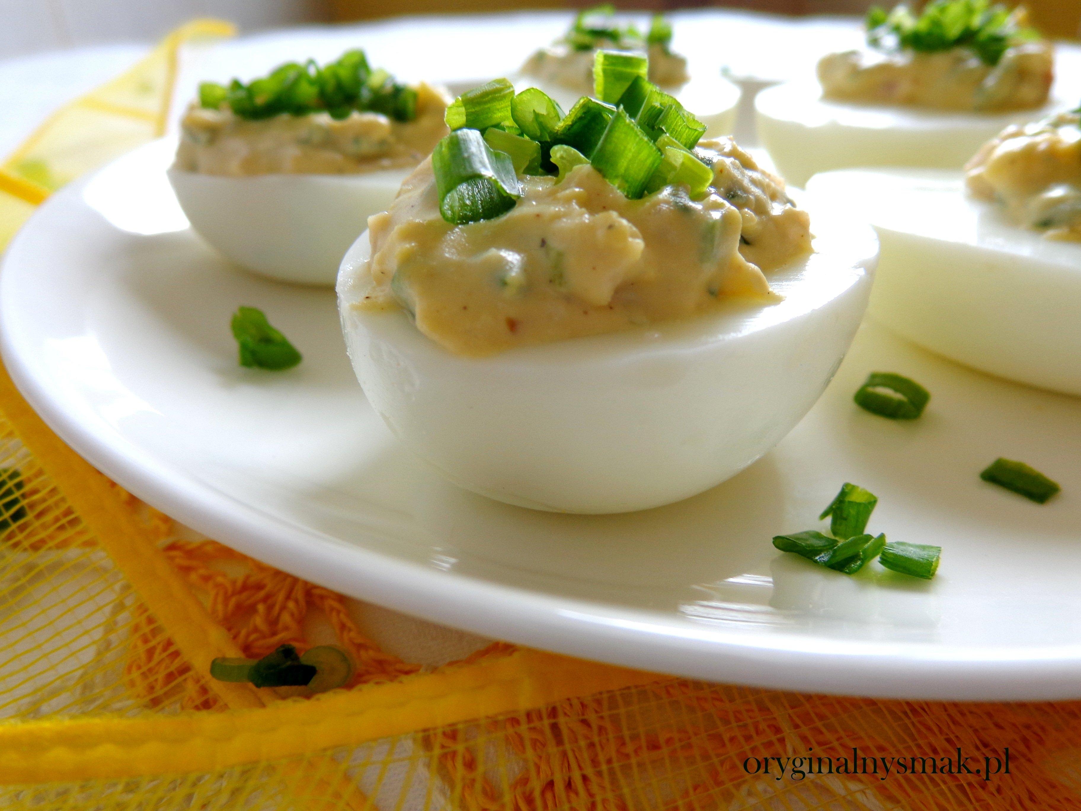 Jajka Faszerowane Szynka I Szczypiorkiem Oryginalny Smak